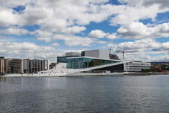 View of the opera house in Oslo Stock Image