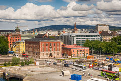 View from the Opera house in Oslo, Norway Royalty Free Stock Photos