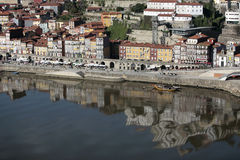 View of oporto. With reflex in the river Stock Photo