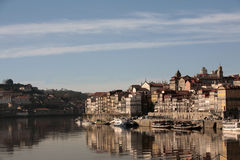 View of oporto. With reflex in the river Stock Photos