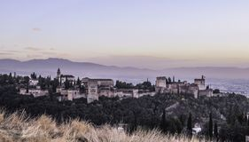 Medieval fortress Alhambra, Granada, Andalusia, Spain 2 royalty free stock images
