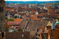 Panoramic view of historic old city of Nuremberg Nurnberg, Germany royalty free stock image
