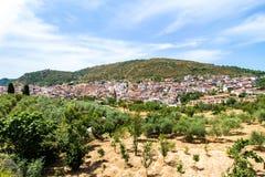 View of Orani, a small Sardinian town, Italy Royalty Free Stock Photos
