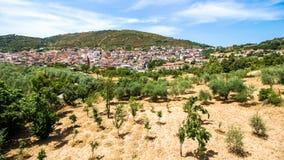 View of Orani, a small Sardinian town, Italy Stock Photo