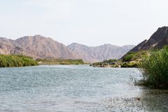 View on the oranje river in namibia Stock Photography
