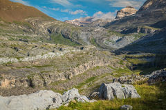 View of Ordesa valley and Monte Perdido massif, Pyrenees, Spain. Royalty Free Stock Photo