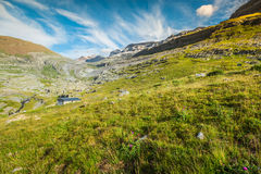 View of Ordesa valley and Monte Perdido massif, Pyrenees, Spain. Royalty Free Stock Image