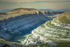 View of Ordesa valley and Monte Perdido massif, Pyrenees, Spain. Stock Images