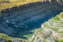 View of Ordesa valley and Monte Perdido massif, Pyrenees, Spain. Royalty Free Stock Photography