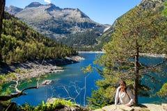 View of Oredon lake in Hautes Pyrenees, france royalty free stock photos
