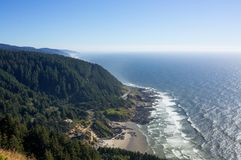 View of the Oregon Coast Line royalty free stock photo