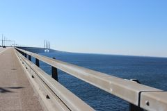 Oresund Bridge royalty free stock photos