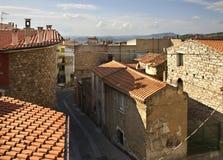 View of Orgosolo. Sardinia. Italy Royalty Free Stock Image