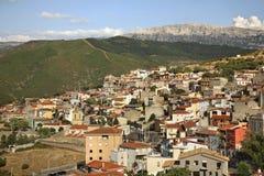 View of Orgosolo. Sardinia. Italy Royalty Free Stock Images