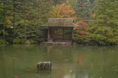 An Oriental Pagoda in a Japanese Garden Stock Photography