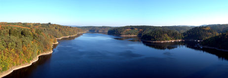 View from the orlik dam Stock Photos