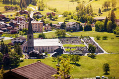 The view of Orsières in Switzerland Royalty Free Stock Images