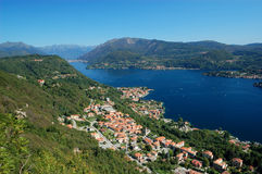 View on Orta Lake Royalty Free Stock Images