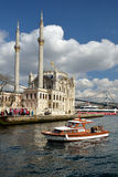 A view of Ortakoy Mosque, Istanbul. Royalty Free Stock Photos