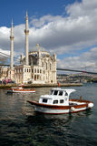 A view of Ortakoy Mosque, Istanbul. Royalty Free Stock Photography
