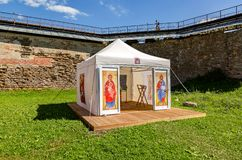 View of the orthodox chapel at the fortress Oreshek royalty free stock photo