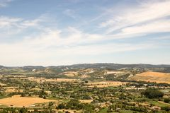 View from Orvieto royalty free stock image
