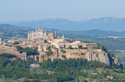 View of Orvieto. Umbria. Italy. Panoramic view of Orvieto. Umbria. Italy Stock Images