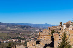 View of Orvieto and Val di Chiana Stock Photo