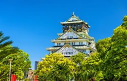 View of Osaka Castle in Japan Royalty Free Stock Photo