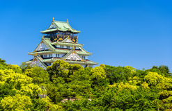 View of Osaka Castle in Japan Royalty Free Stock Images