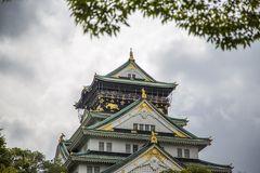 Osaka castle in Japan. View at the Osaka castle in Japan Royalty Free Stock Image