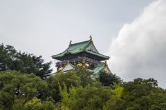 Osaka castle in Japan. View at the Osaka castle in Japan Stock Photos