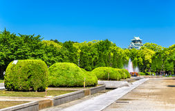 View of Osaka Castle Park in Japan Stock Image