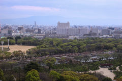 View from Osaka castle Royalty Free Stock Photography