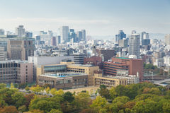 View of Osaka city in daytime Stock Images