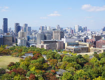 View of Osaka downtown Royalty Free Stock Photos