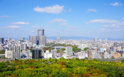 View of Osaka downtown Royalty Free Stock Image
