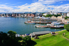 View of Oslo. Fjord and the Harbour in 2011 year royalty free stock images