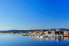 View of Oslo city. On a sunny winter day Royalty Free Stock Images