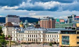 View of Oslo city centre Stock Photos
