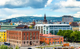 View of Oslo city centre Stock Photography