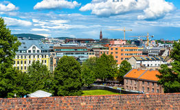 View of Oslo city centre Royalty Free Stock Photo