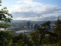 View of Oslo. From Ekebergparken Stock Photography