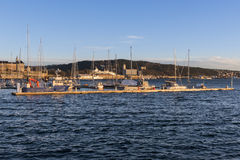 View of Oslo fjord and habor Stock Photography