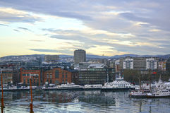 View of Oslo and the Oslo Fjord. Norway. January 04, 2013 Royalty Free Stock Photo