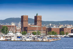 View of Oslo Radhuset Norway Stock Image