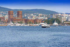 View of Oslo Radhuset Norway Stock Images