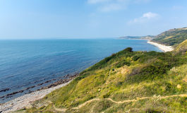 View from Osmington Mills of the coast of Dorset England UK direction of Weymouth Stock Photo