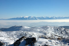 View from Osogovo Mountain, Bulgaria, Europe Royalty Free Stock Images
