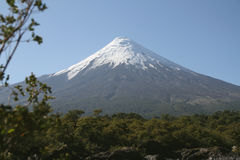 View of the Osorno Volcano, Patagonia, Chile. Royalty Free Stock Image